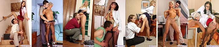 secretaries in pantyhose
