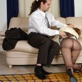 pantyhose legs in office